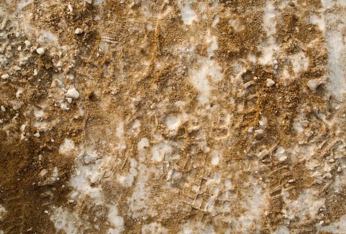 snow sand print