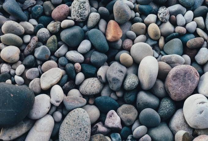 Lots of Colorful Pebbles