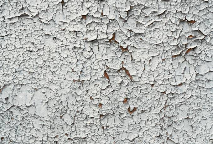 cracked peeling paint