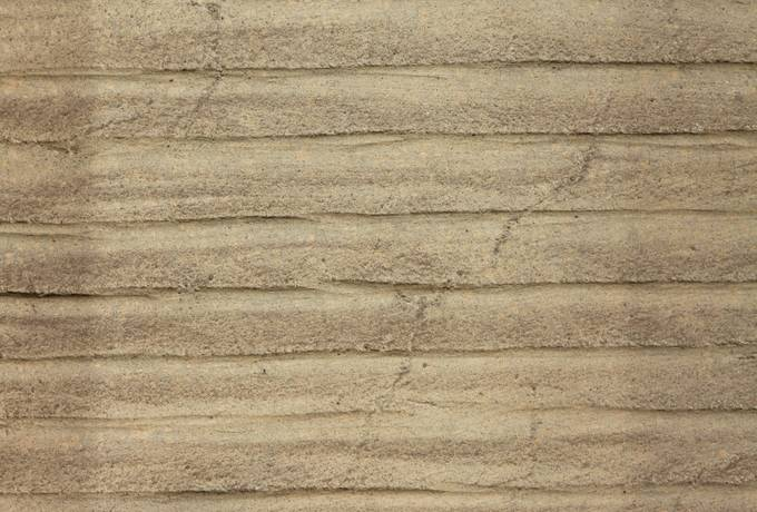 striped sandstone slab