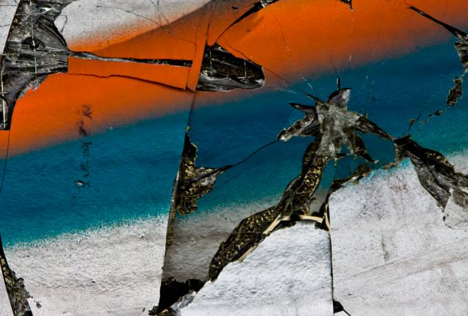 glass damaged graffiti