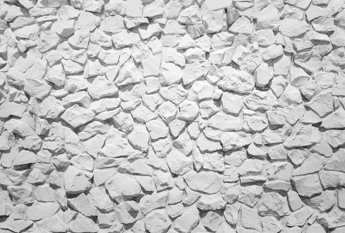 Decorative White Stone Wall