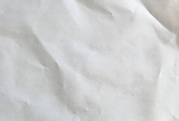 White and Wrinkled Sheet of Paper