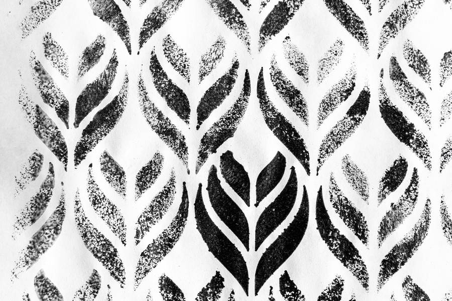 Black and White Ornament Pattern free texture