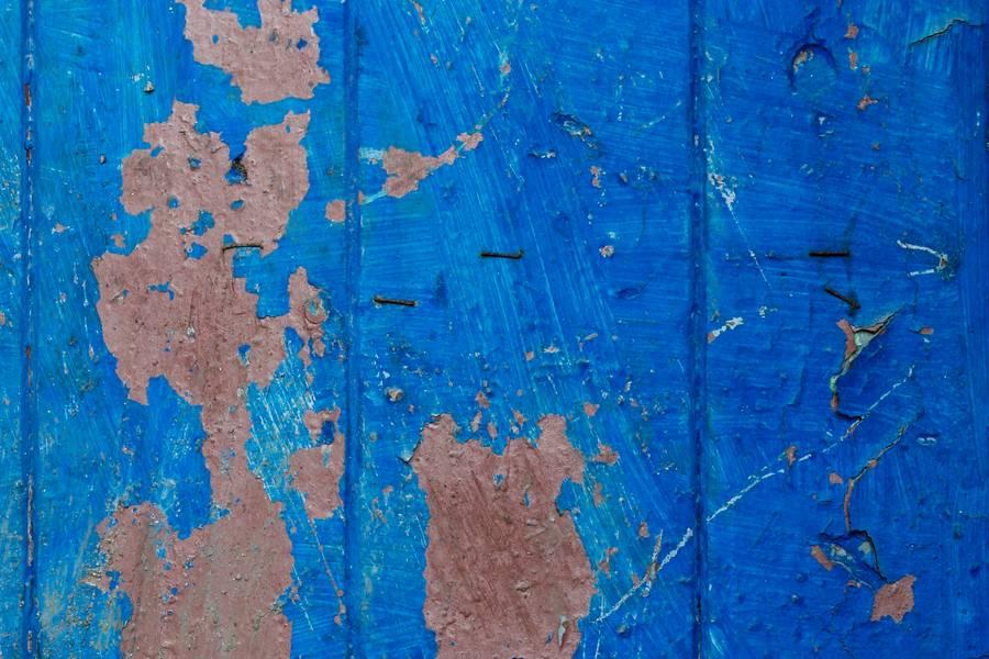 blue peeling wood free texture