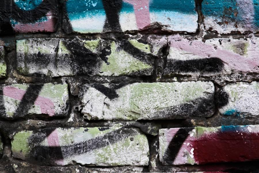 graffiti wall brick free texture