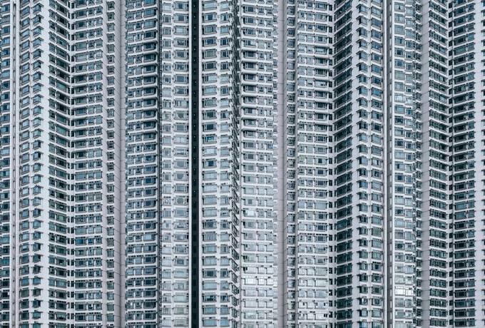 free Building Facade, Tung Chung, Hong Kong texture