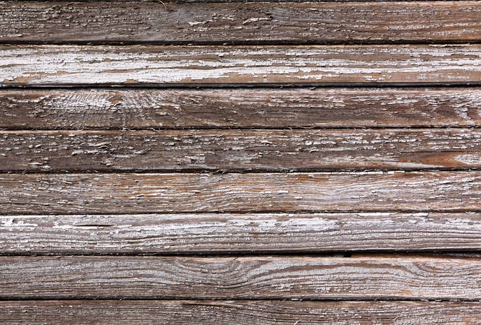 weathered peeling plank