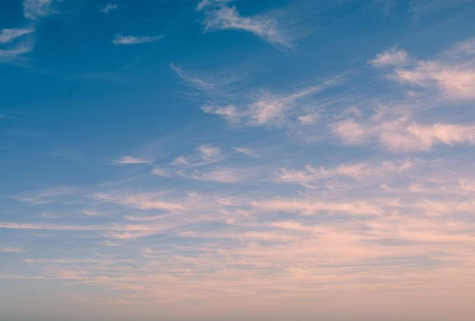 Sky with Delicate Soft Pink Clouds