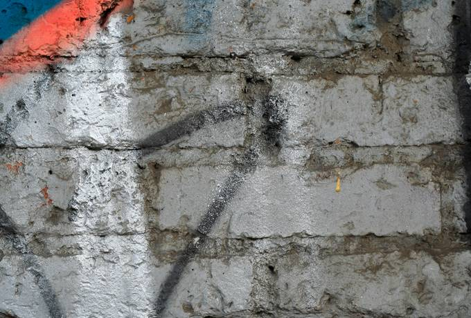 brick graffiti rough