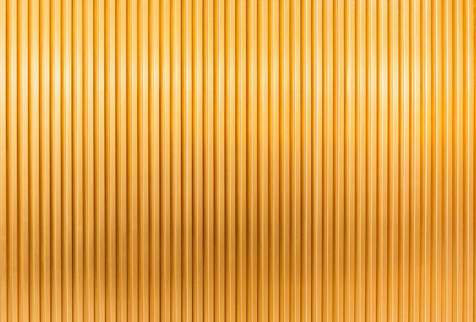 Gold Striped Metal