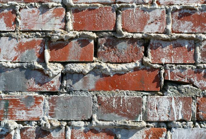 grout brick wall