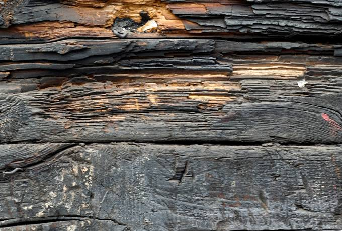 burnt wood plank
