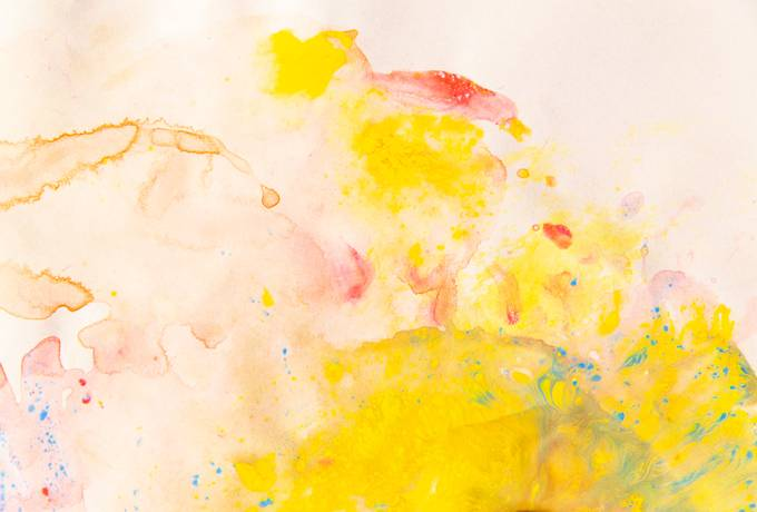 Yellow Abstract Watercolor