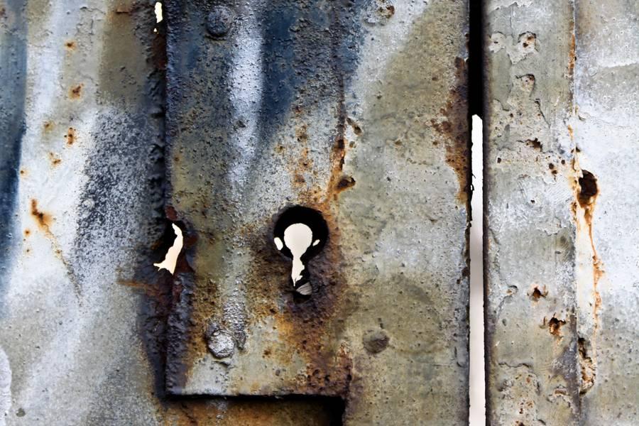 rusty lock peeling free texture
